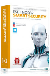 ESET NOD32 Smart Security на 3ПК и 1 год